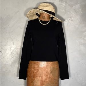 Per Se Crop Knit Top or Sweater Small